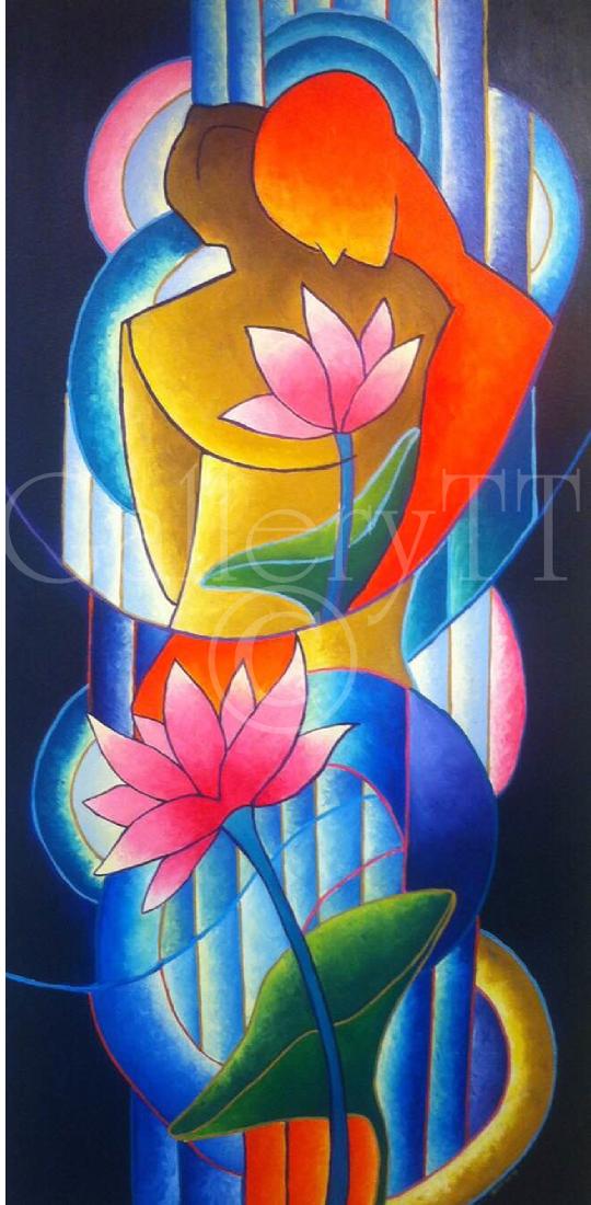 Love - Damian Moore, 2015, Acrylics, GalleryTT.com.png