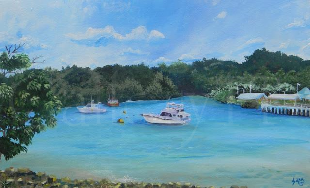 Chaguaramas Boats 16 x 24 - 2015- Samantha Rochard - 1303201510.png