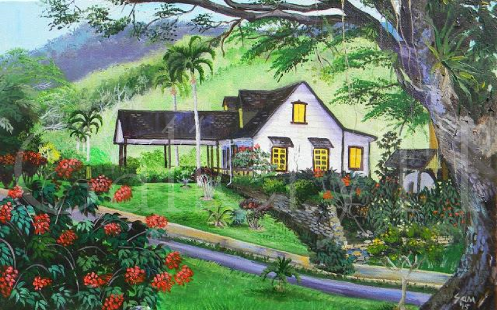 From the Bridge- Lopinot Main House 16 x 24-Samantha Rochard.png