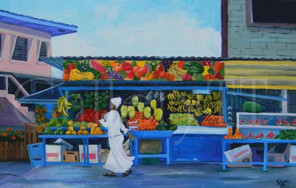 Sangre Grande Fruit Stall  16 x 24 - Samantha Rochard.png