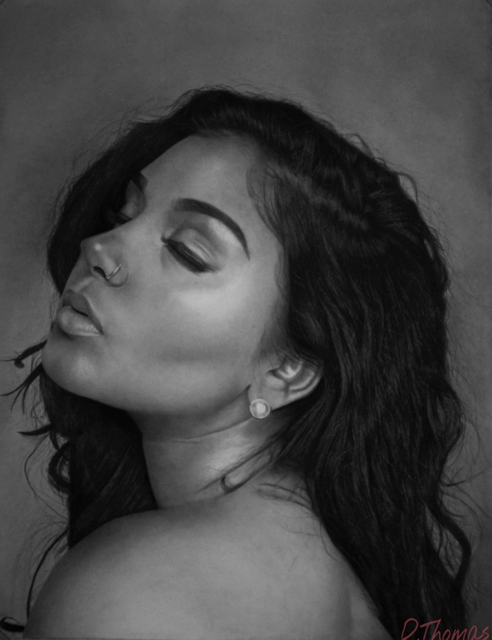Korena - David Thomas, 2016, Pencil, GalleryTT.com.jpg