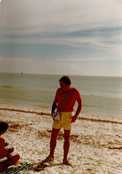 My Dad, at Sanibel Island, 1980. Always happy to make introductions on my behalf.