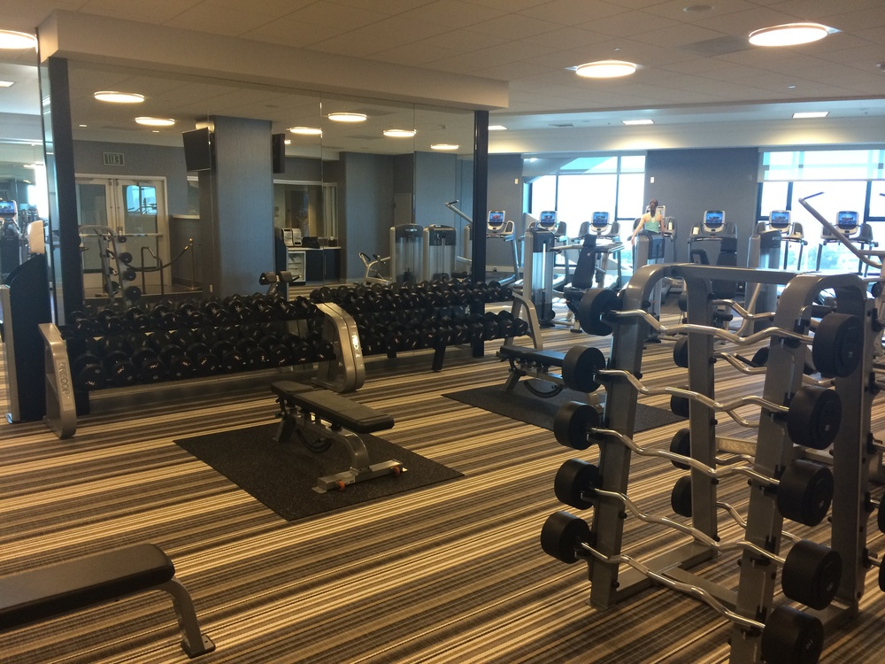 Staying Fit In San Diego The Manchester Grand Hyatt Gym The Fit And Well Atlanta Belle