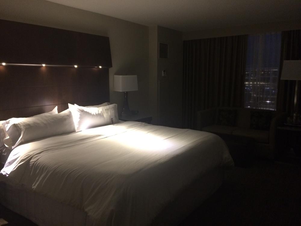 """My """"Heavenly"""" bed at the Westin Buckhead Atlanta."""