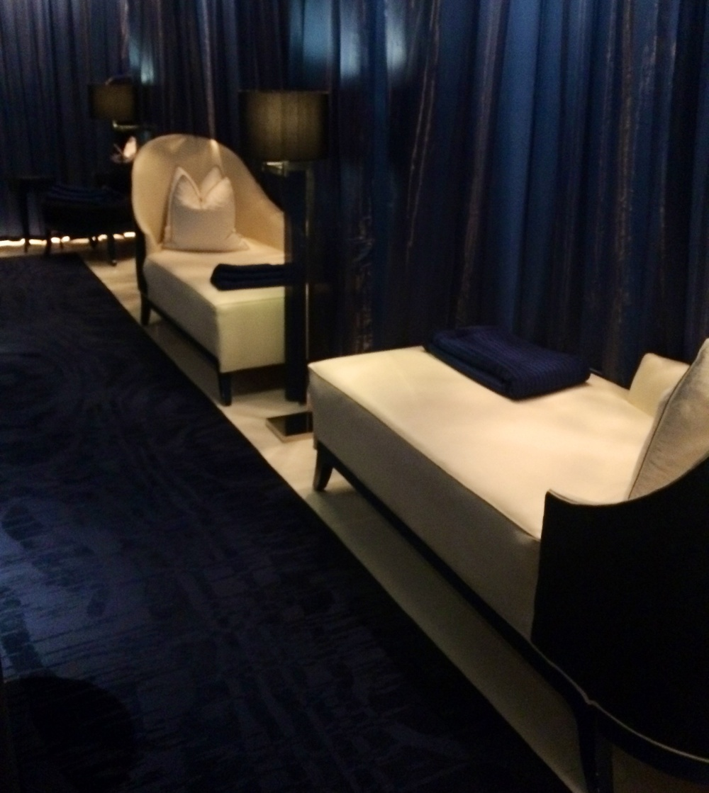 The relaxation room at the Dorchester Spa.