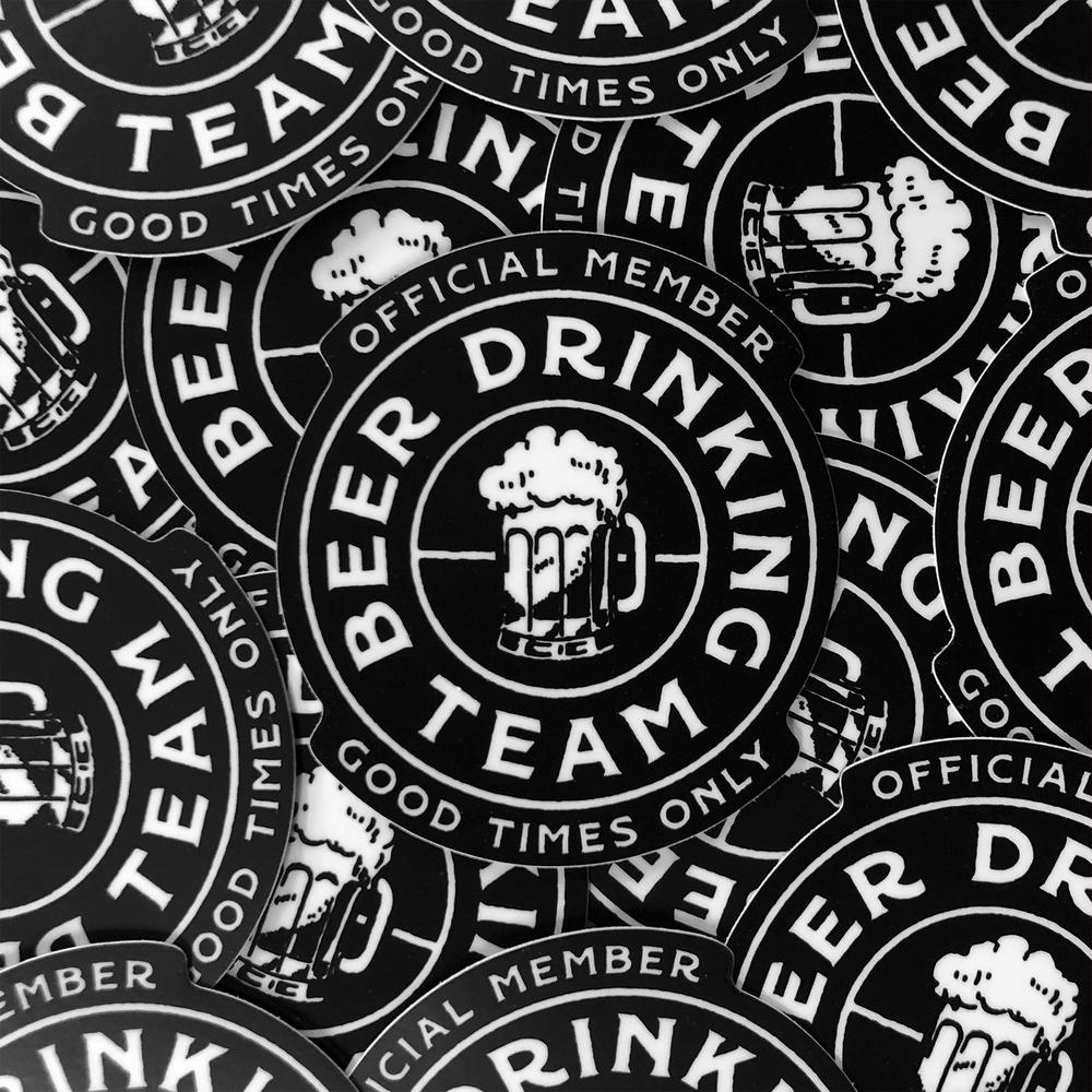Beer drinking team sticker pack mahaffey design co
