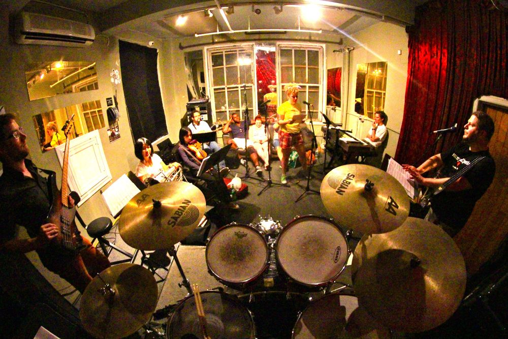 The Titanics in Rehearsal