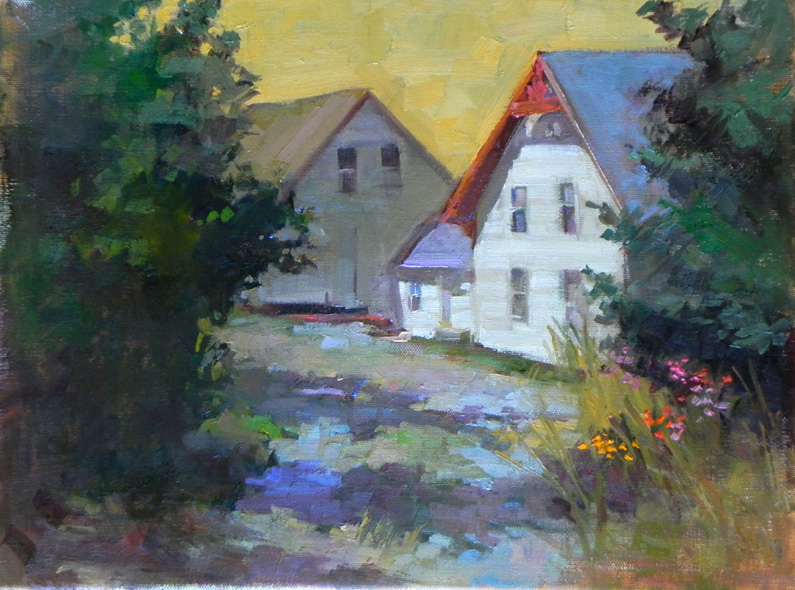 """End of the Road, Maine  o/c 16"""" x 12"""""""