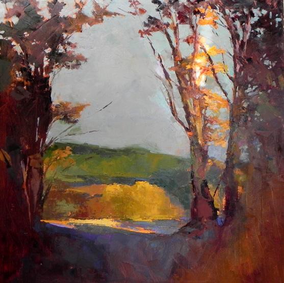 "Light Through Trees o/c 36"" x 24"""