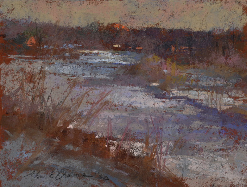 "Winterscape  12"" x 9"""
