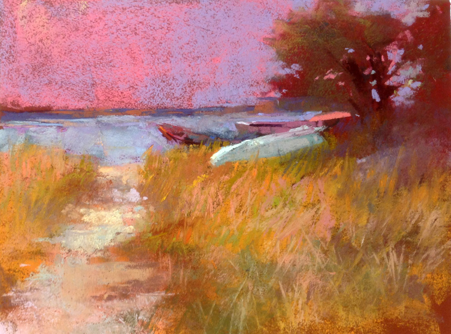 "Wellfleet Boats  12"" x 9"""