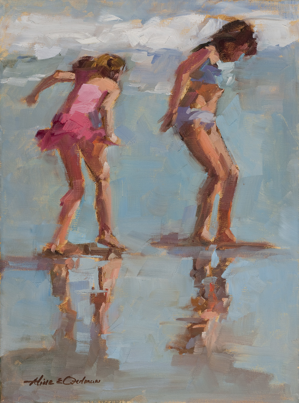 "Beach Romp oil 16"" x 20"""