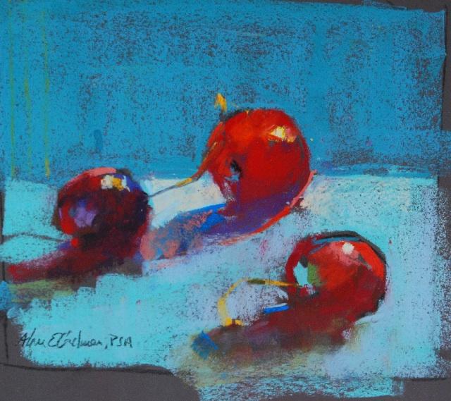 """Cherries   Pastel   9"""" x 9"""""""