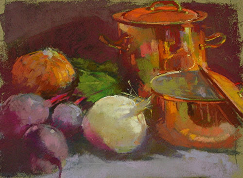 "Copper Pots  oil  12"" x 16"""