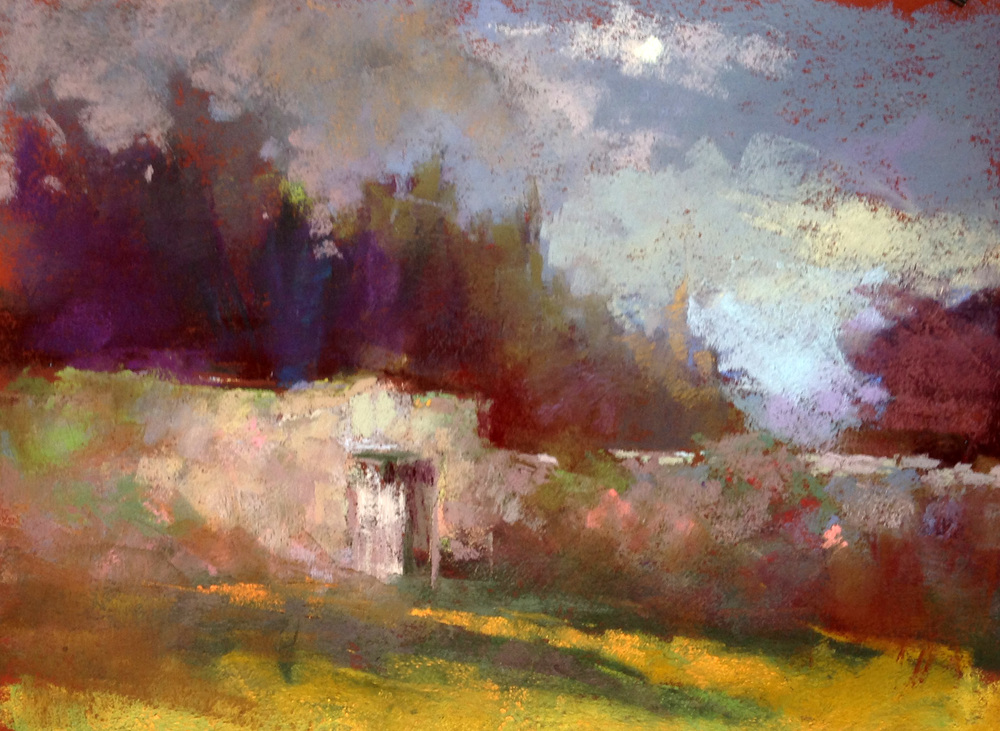 "Fells Gate Stormy Sky  9"" x 12"" sold"