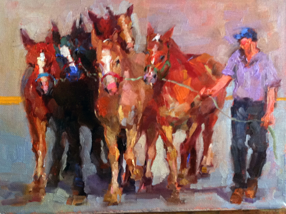 On the Lead  9 x 12 o/c SOLD