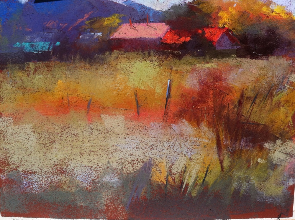 Truchas morning  9 x 12 pastel