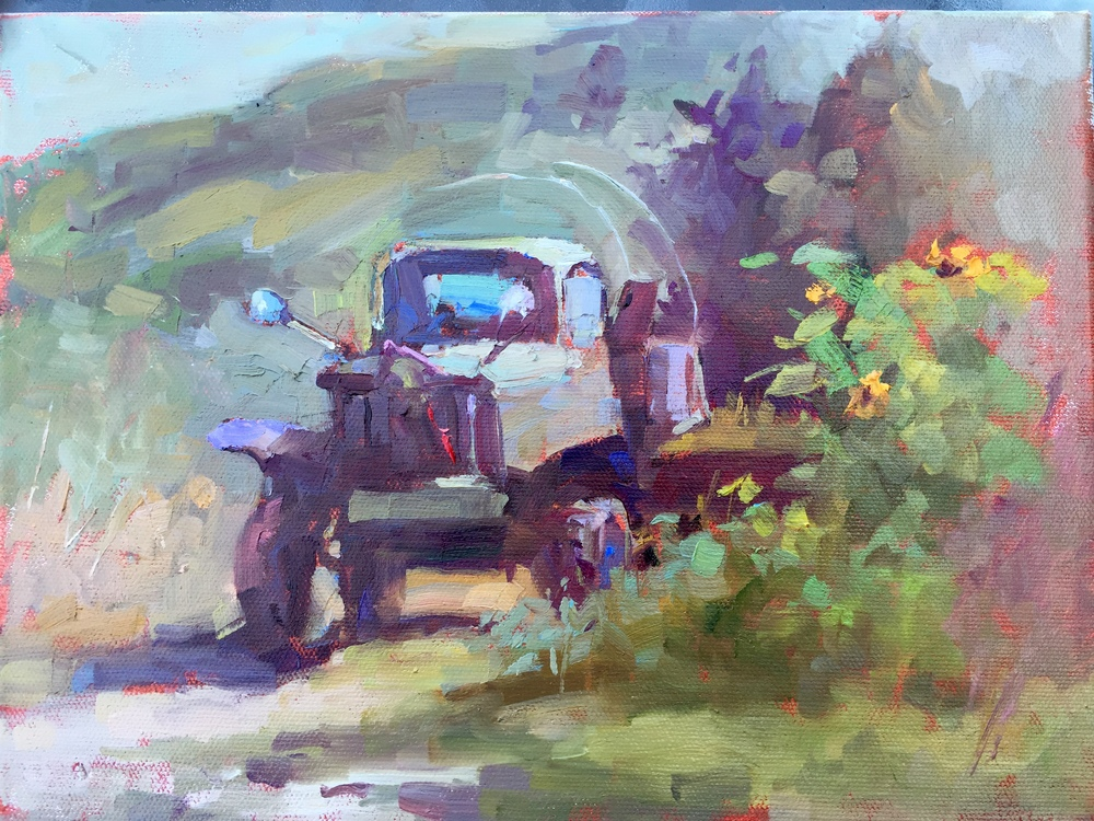 Old Truck  9 x 12 o/c