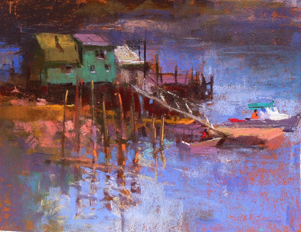 Swans Island Wharf  9 x 12