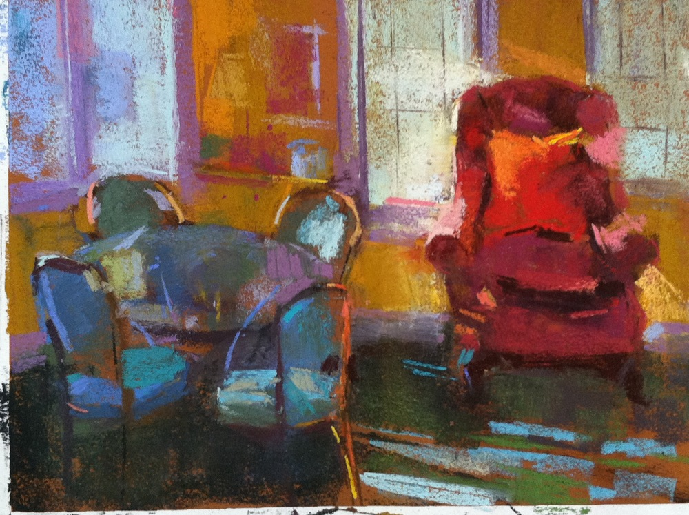 Red Chair  9 x 12