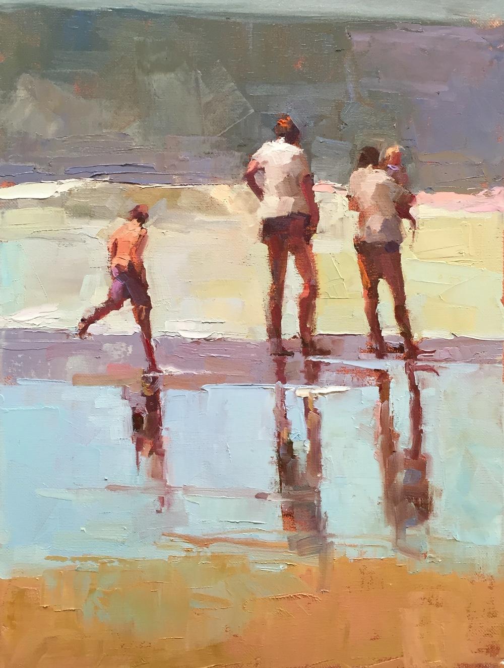4 On a Beach 12 x 16