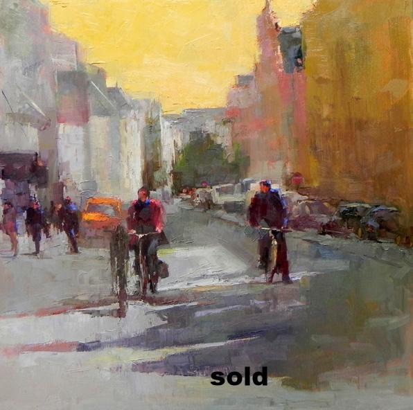"Paris Bikers  o/c 20"" x 20""SOLD"