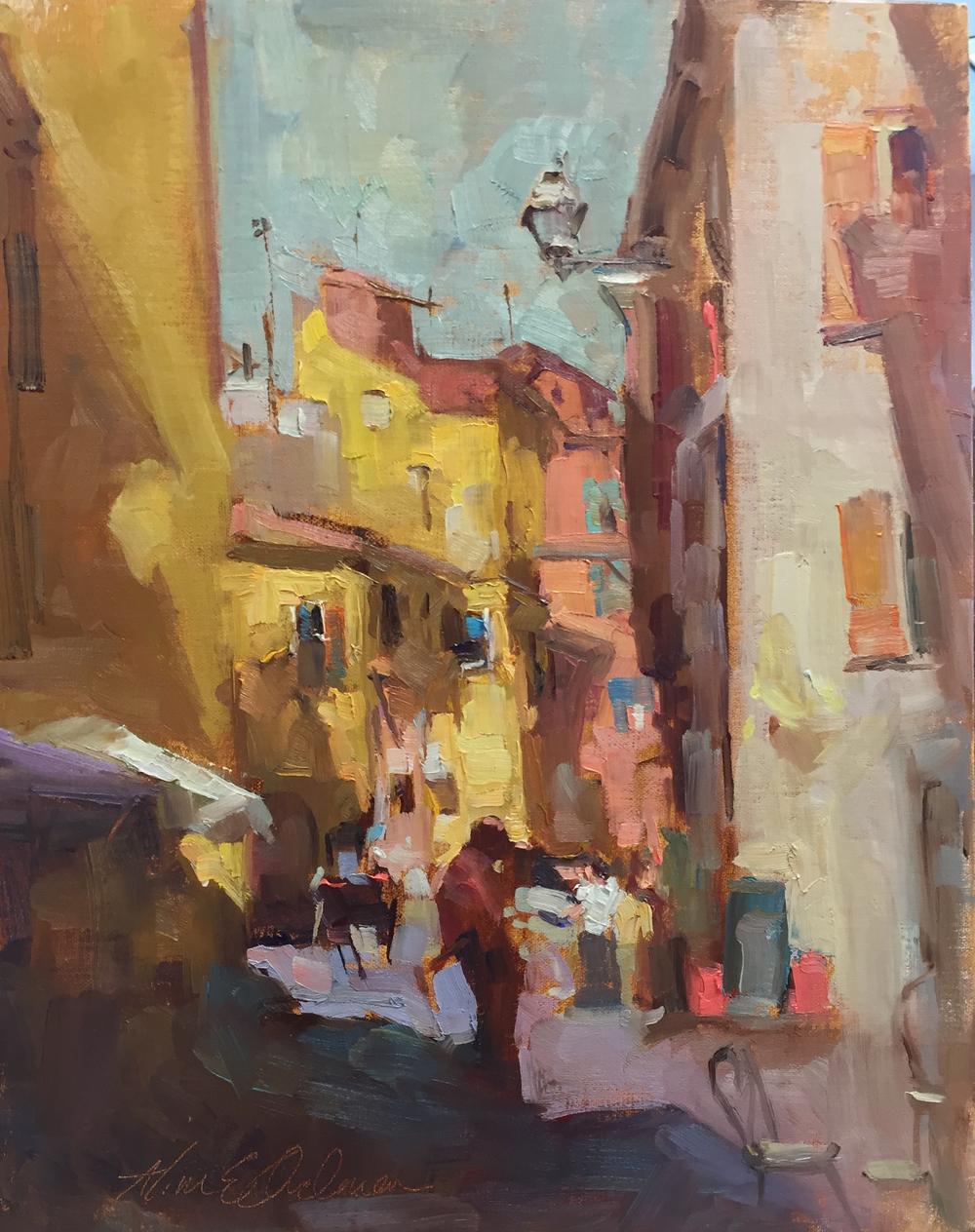 In Italy  o/c 9 x 12