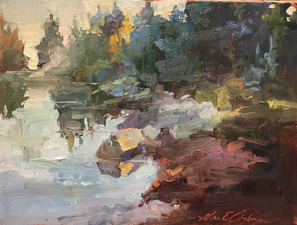 Quiet Cove 9 x 12 oil