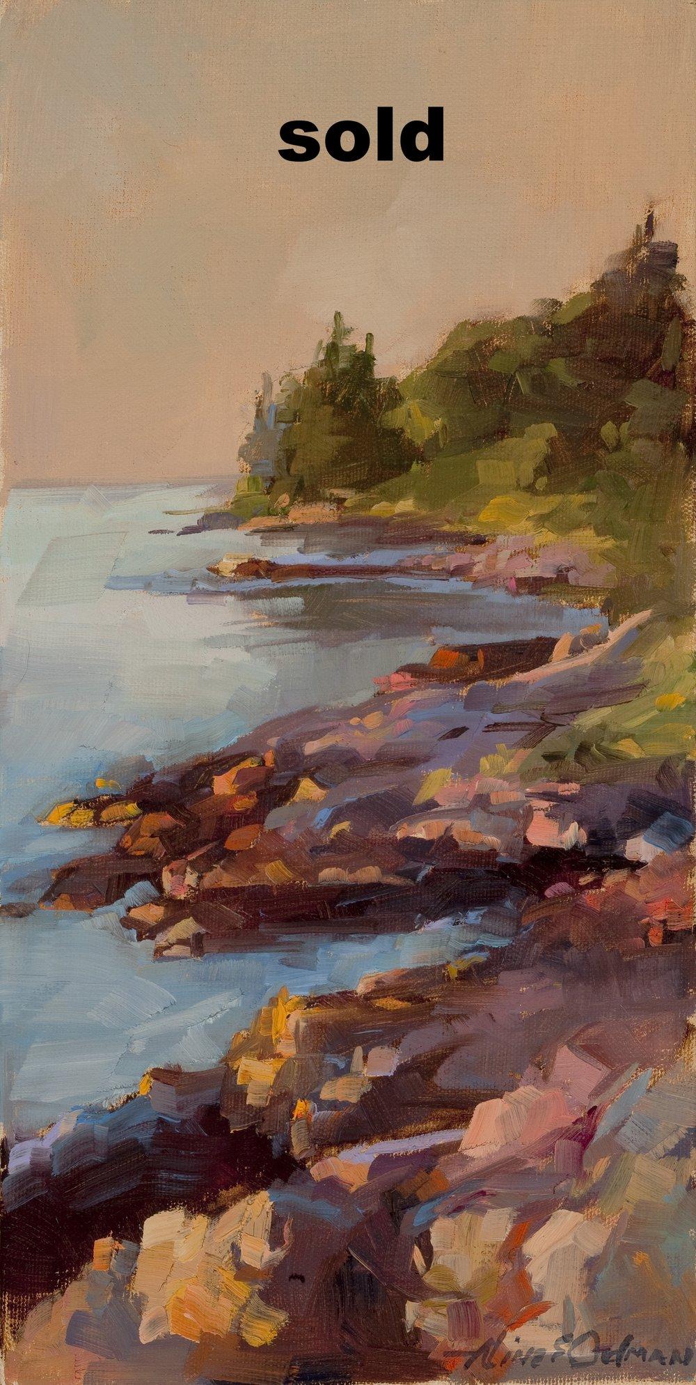 "Sea Rocks  o/c 4"" x 12"""