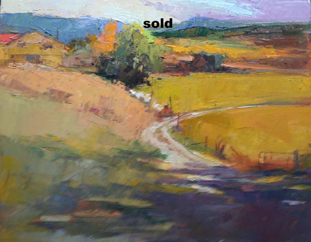 Along the Dirt  18 x 18 o/c sold