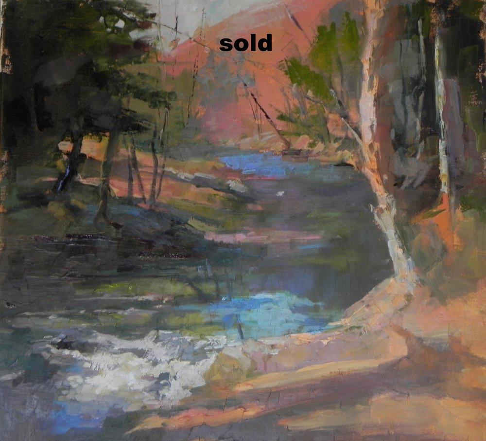 "Kedron Brook, Woodstock, VT  12"" x 12"""