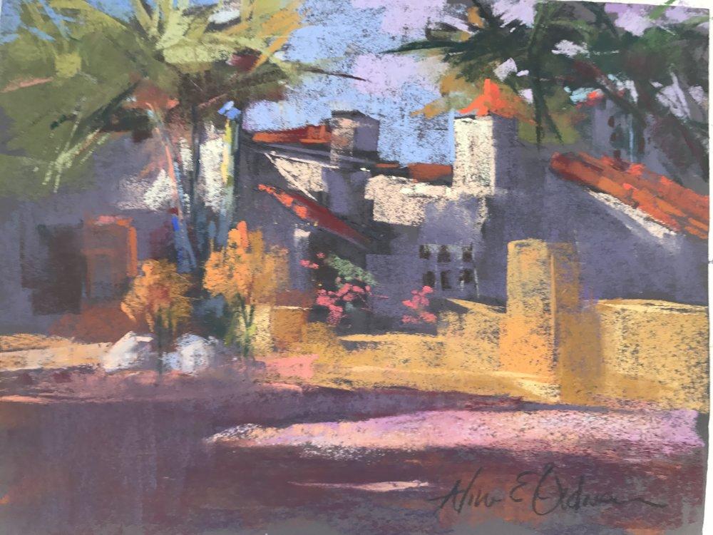 Old Town San Diego  9 x 12 Pastel