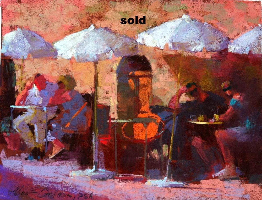 Cafe Life  pastel 9 x 12