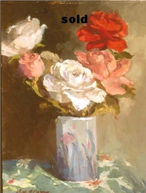 "Bouquet  oil 9"" x 12"" SOLD"
