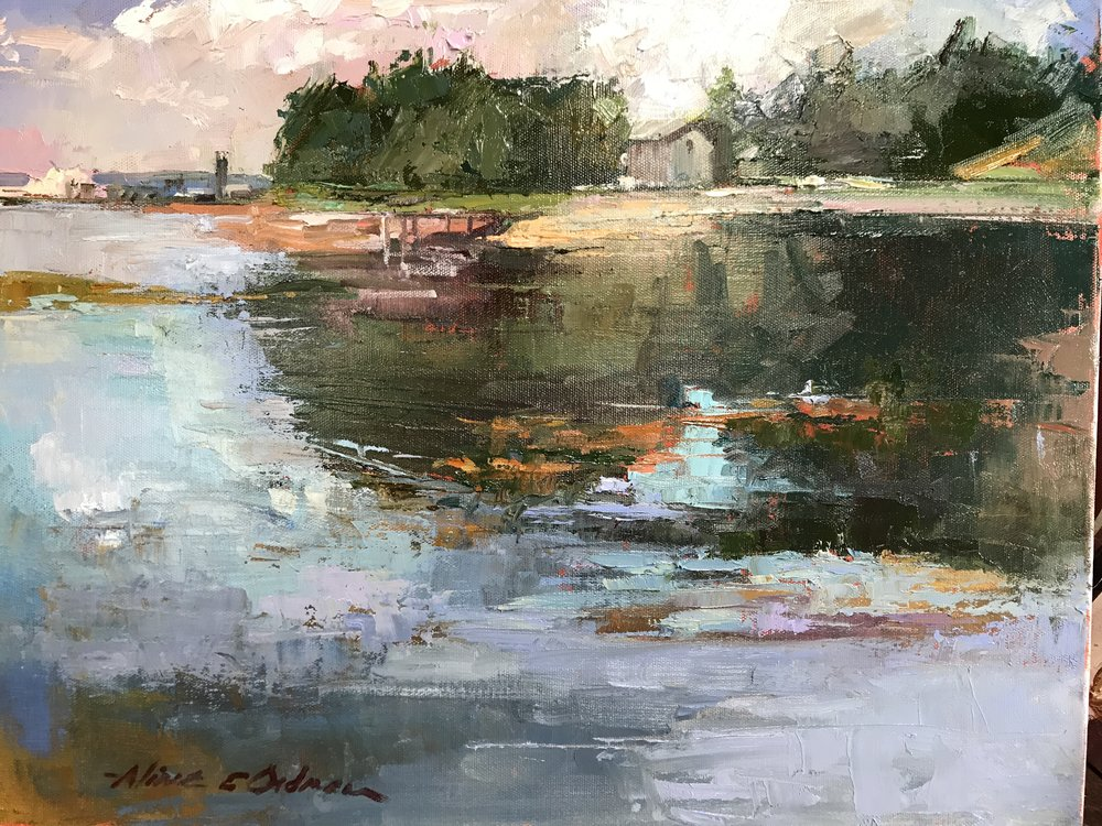 Maine Cove 16 x 20 oil on canvas
