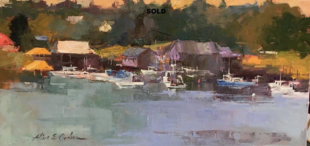 Maine Harbor 12 x 24 sold