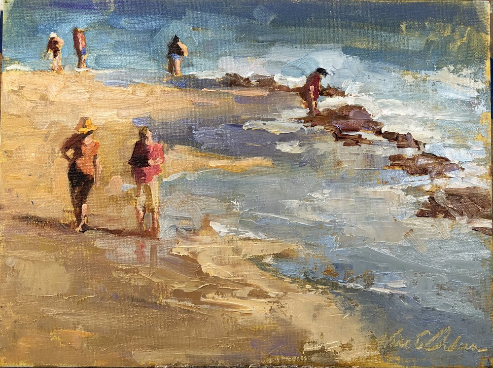 Florida Beach 8 x 10 oil on board