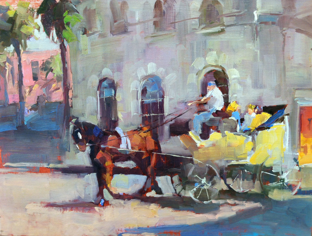 Charleston Carriage 8x 10 oil