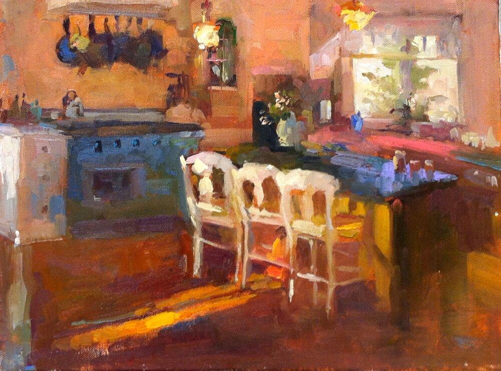 Morning Light  12 x 16 oil on canvas