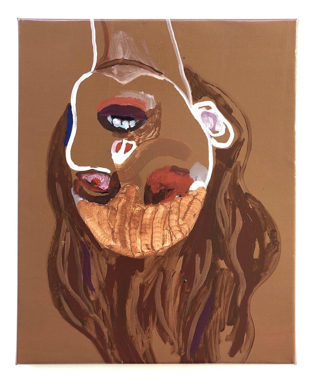 Højstemt genbillede /akryl på lærred, 50 x 40 cm
