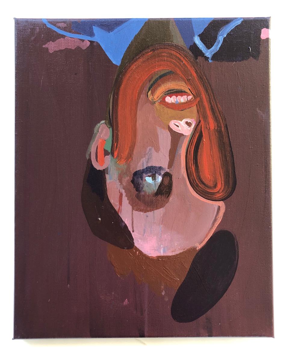 Solo Ego dingler / akryl på lærred 50 x 40 cm