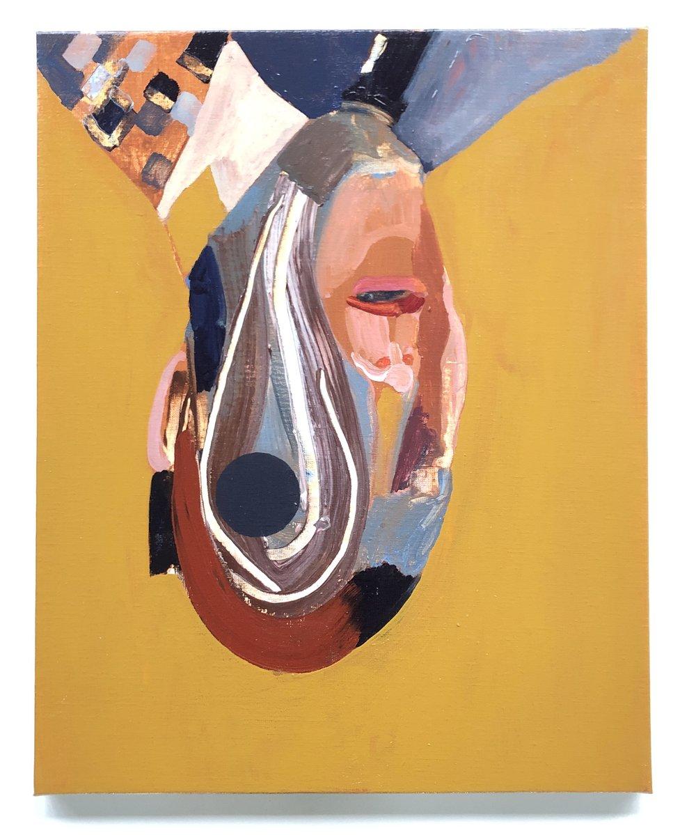 Det splittes ad (egoet) / akryl på lærred, 50 x 40 cm