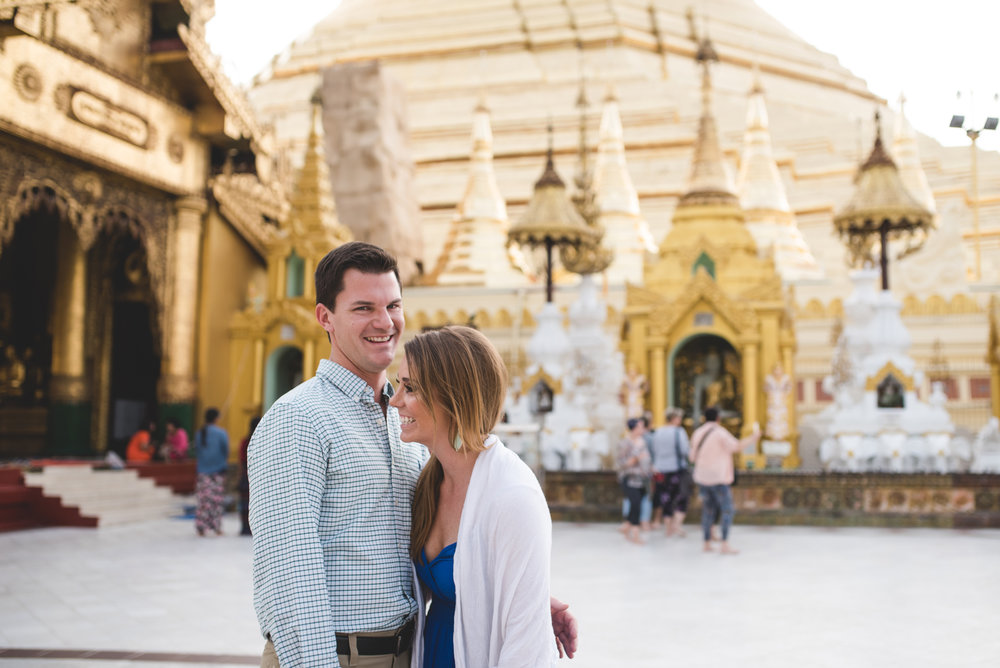 Couple at Shwedagon Pagoda