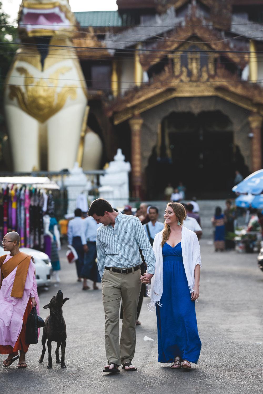 Engagement travel photo shoot Yangon