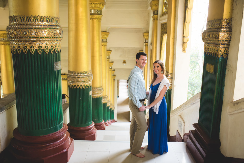 Engagement travel photo shoot Yangon