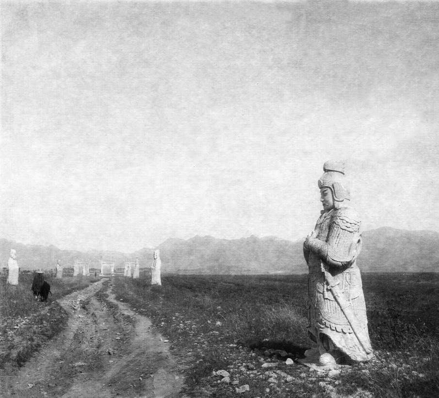 Warrior statues on the great way of spirits, Beijing, 1930