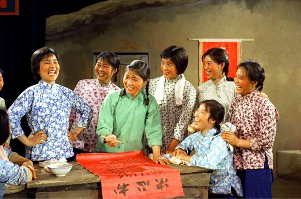 Daqing amateurish performers from worker's families went to Beijing for performance (Series: Red Times), 1969, giclee print, variable sizes