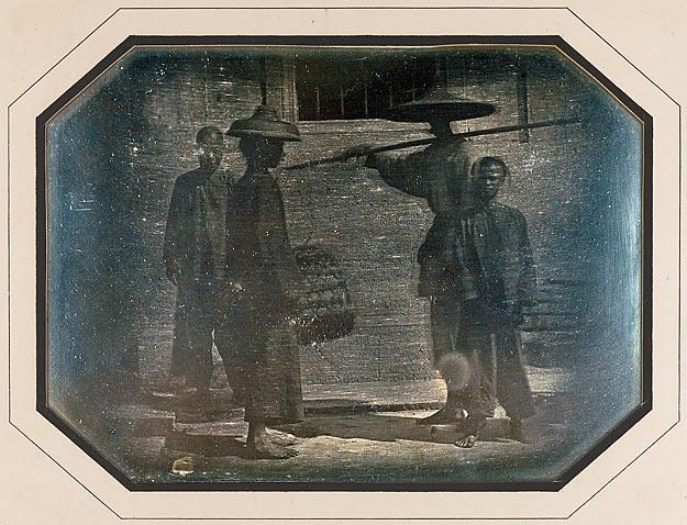 Groupe pris dans une rue de Canton, novembre 1844, daguerréotypie
