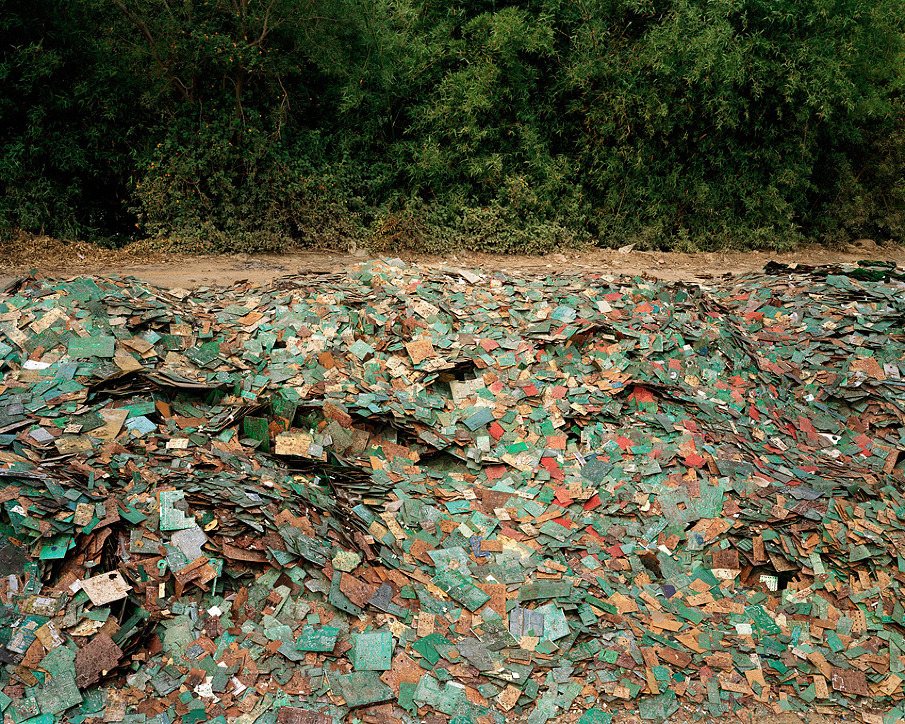 China Recycling #9, Circuit Boards, Guiyu, Guangdong Province, 2004