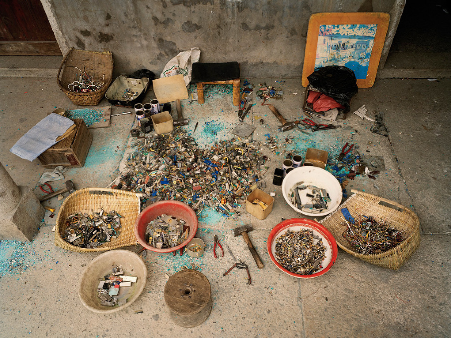 China Recycling #12, Ewaste Sorting, Zeguo, Zhejiang Province, 2004